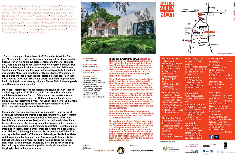 Fleischeslust, Villa Rot, Folder zur Ausstellung: Teil 2