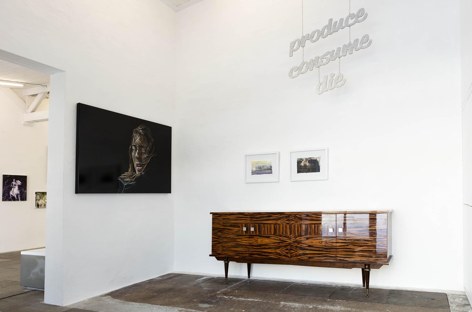 Schwarzer Flamingo, Galerie Hartwich, Rügen, Stefan Rinck, Katharina Arndt, Tanja Selzer, Paul Pretzer, Ausstellung