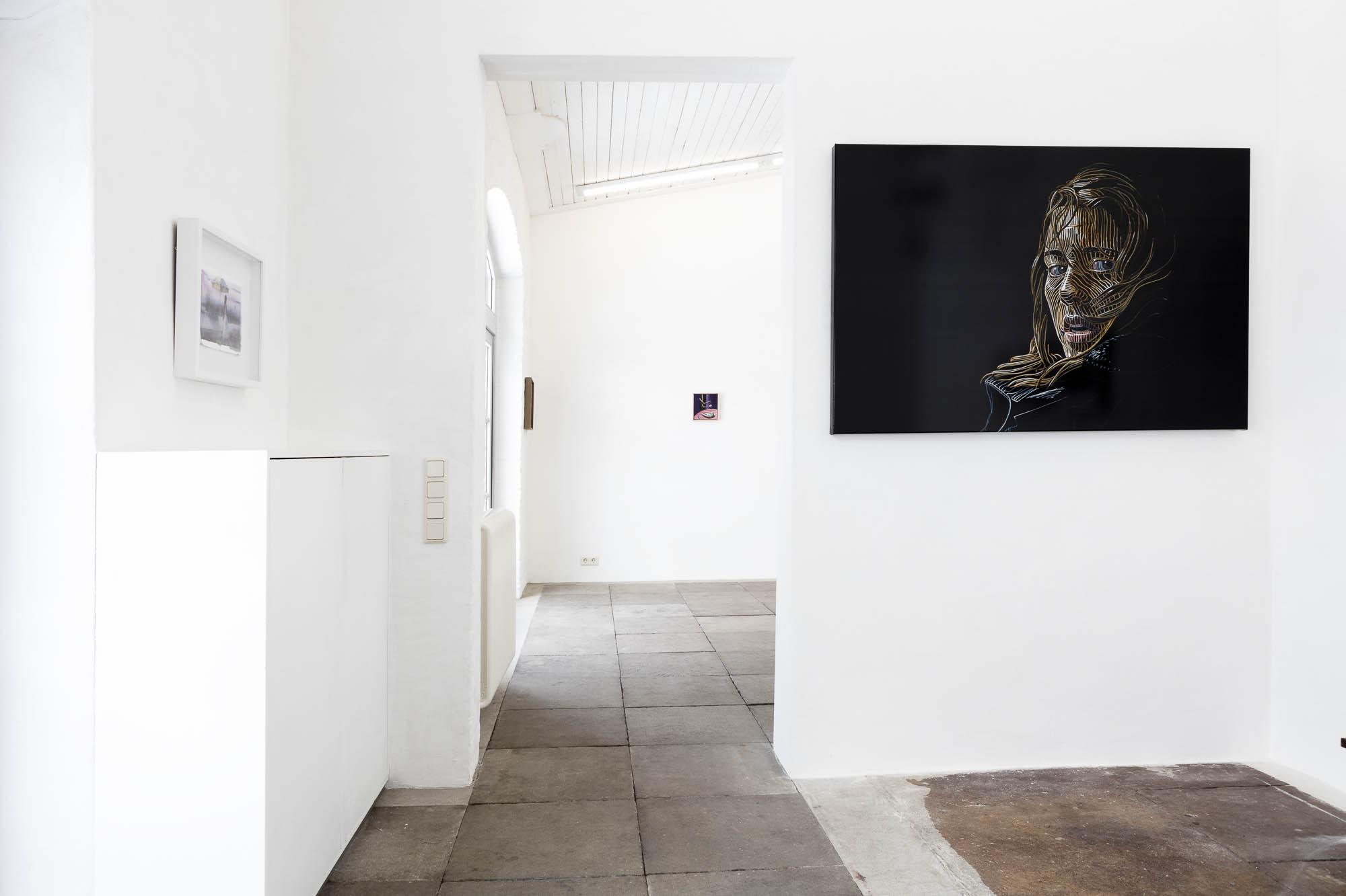 Schwarzer Flamingo, Galerie Hartwich, Rügen, Katharina Arndt, Final Girl #26