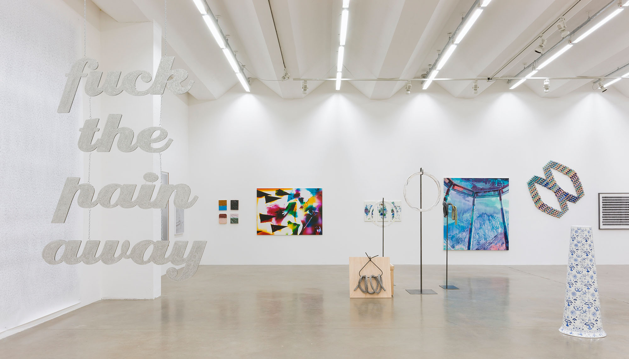 Ausstellung Saloon, Sexauer Gallery, Katharina Arndt, fuck the pain away, 2015