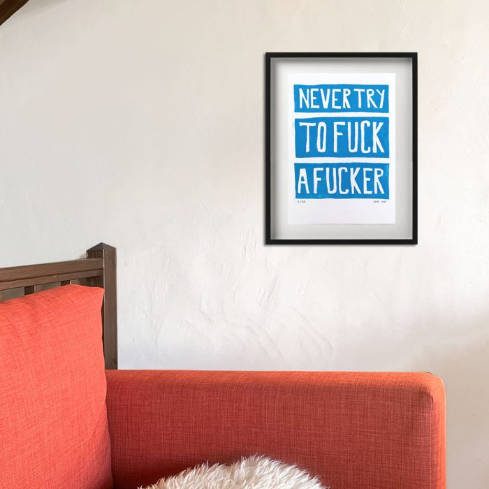 web_katharina-arndt_Never-try-to-Fuck-a-Fucker_blue_30x42cm_2019_WAND